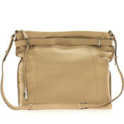 Cromia Italia Made Camel Beige Leather Large Carryall Satchel Shoulder Bag
