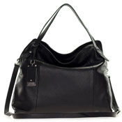 Cromia Italian Made Black Buttersoft Leather Satchel Shoulder Bag