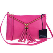 Laura Di Maggio Italian Made Pink Leather Crossbody Bag Wristlet