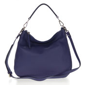 Gianni Chiarini Italian Made Royal Blue Pebbled Leather Slouchy Hobo Bag