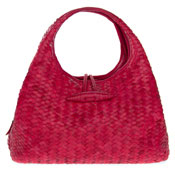 Paolo Masi Italian Made Red Hand Woven Leather Purse Handbag