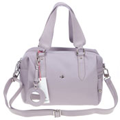 Bruno Rossi Italian Made Lilac Calf Leather Small Satchel Shoulder Bag