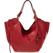 Gianni Chiarini Italian Made Red Leather Large Carry-all Tote Bag