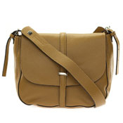 Gianni Chiarini Italian Made Tan Brown Leather Crossbody Messenger Bag
