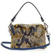 Gianni Chiarini Italian Made Python Print Leather Mini Purse