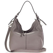 Gianni Chiarini Italian Made Taupe Leather Hobo Bag