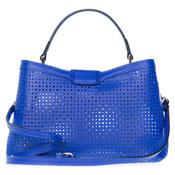 Gianni Chiarini Italian Made Blue Perforated Leather Small Purse