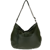 Bruno Rossi Italian Made Moss Green Butter soft Lamb Leather Large Hobo Bag
