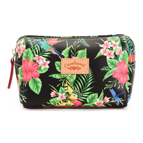 4c2cb9a05e97 Add to My Lists. Cavalcanti Italian Made Small Makeup Bag in Floral Black
