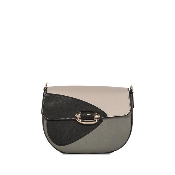 on sale d863f 1eba4 Cromia Italian Made Color Block Calf Leather Crossbody Bag