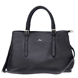 Nardelli Italian Made Black Calf Leather Medium Tote