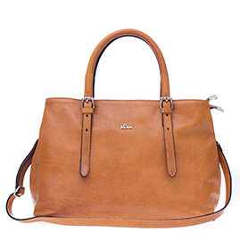 Nardelli Italian Made Camel Calf Leather Medium Tote