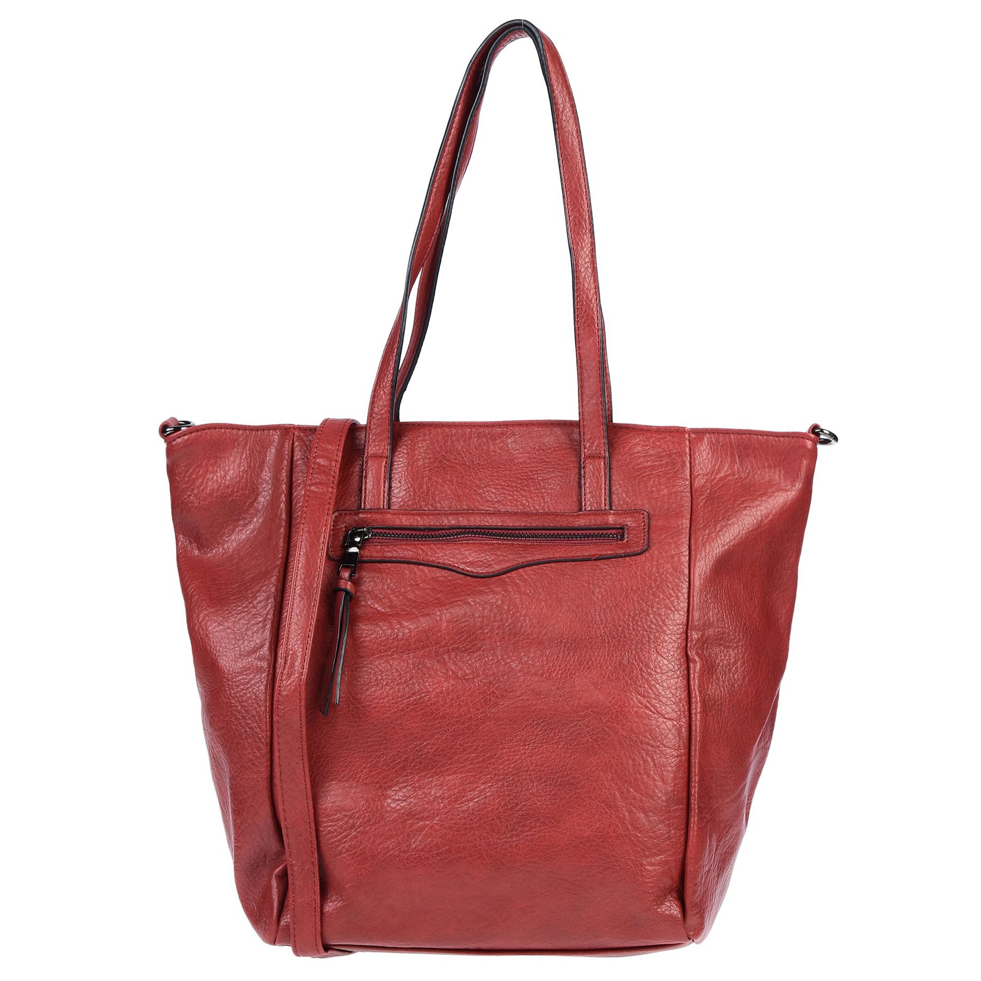 Maury Italian Made Cherry Red Buttersoft Leather Tote