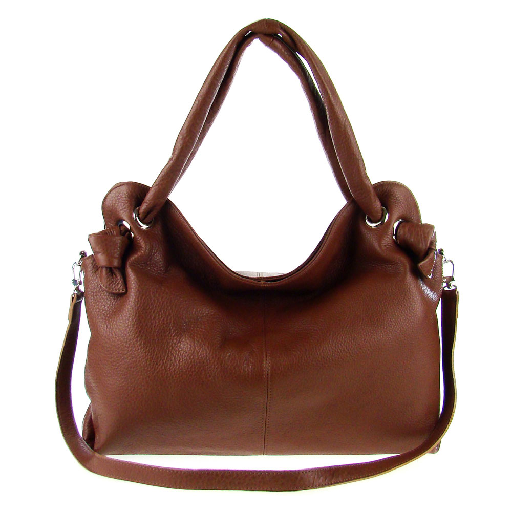 Italian made brown leather large carryall tote bag by m a for Made com italia