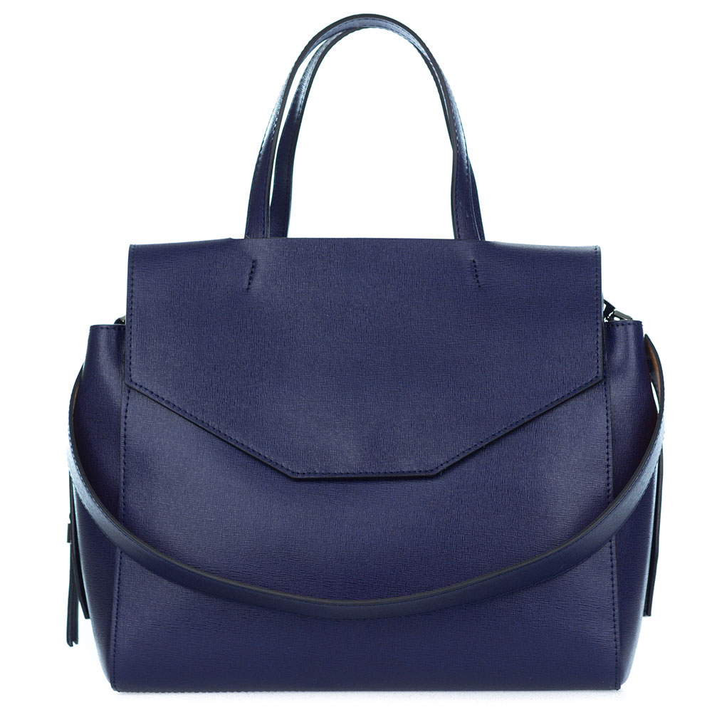 79f629be00b3 Add to My Lists. Gianni Chiarini Italian Made Navy Blue Leather Large  Structured Tote ...