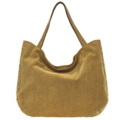 Gianni Chiarini Italian Made Tan Brown Suede Large Slouchy Tote Bag