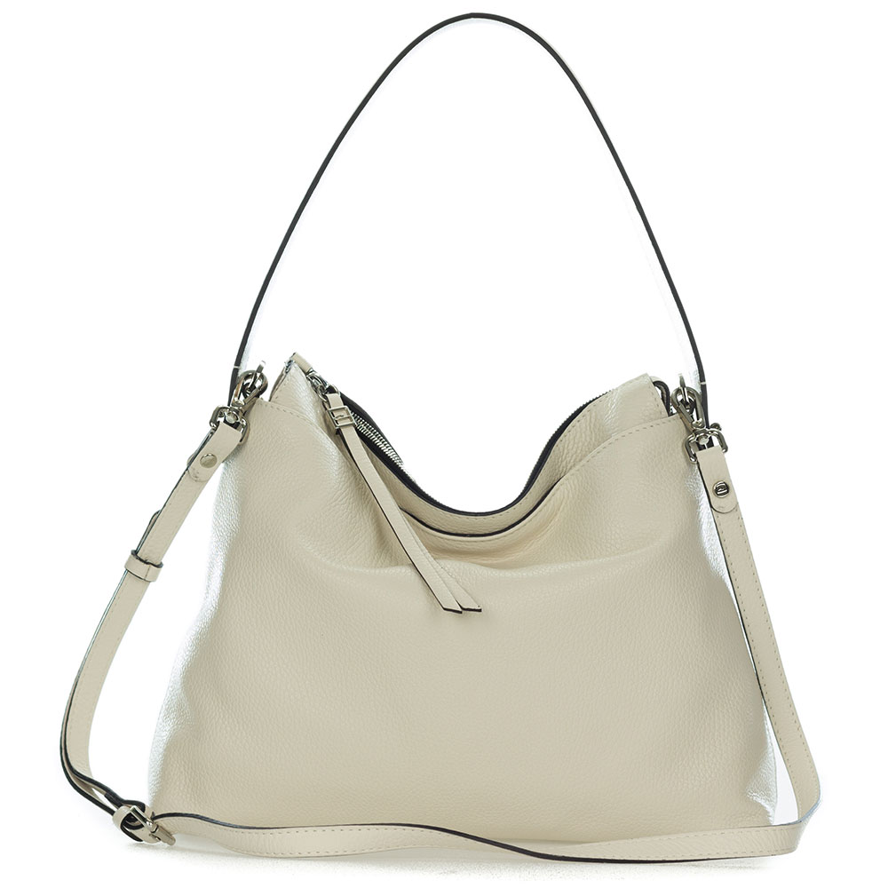 4a86a2c9d622db Add to My Lists. Gianni Chiarini Italian Made Beige Pebbled Leather Slouchy  Hobo Bag