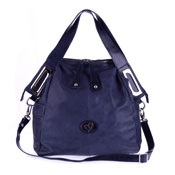 Megghi Italian Designer Blue Leather Large Tote Handbag - / Clearance /