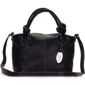 Giordano Italian Made Black Leather Small Handbag Purse - / Clearance /