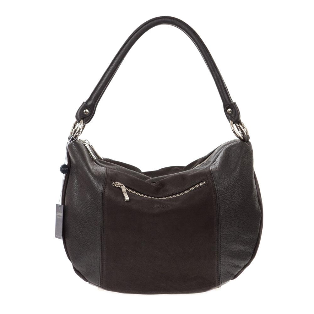 Arcadia Italian Made Black Leather Hobo Bag Handbag 37fd9672ee481
