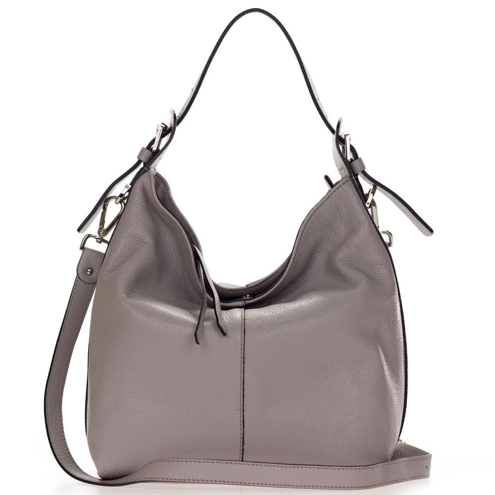 Gianni Chiarini Italian Made Taupe Leather Hobo Bag