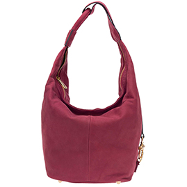 Nardelli Italian Made Dusty Purple Nubuck Leather Large Hobo Bag
