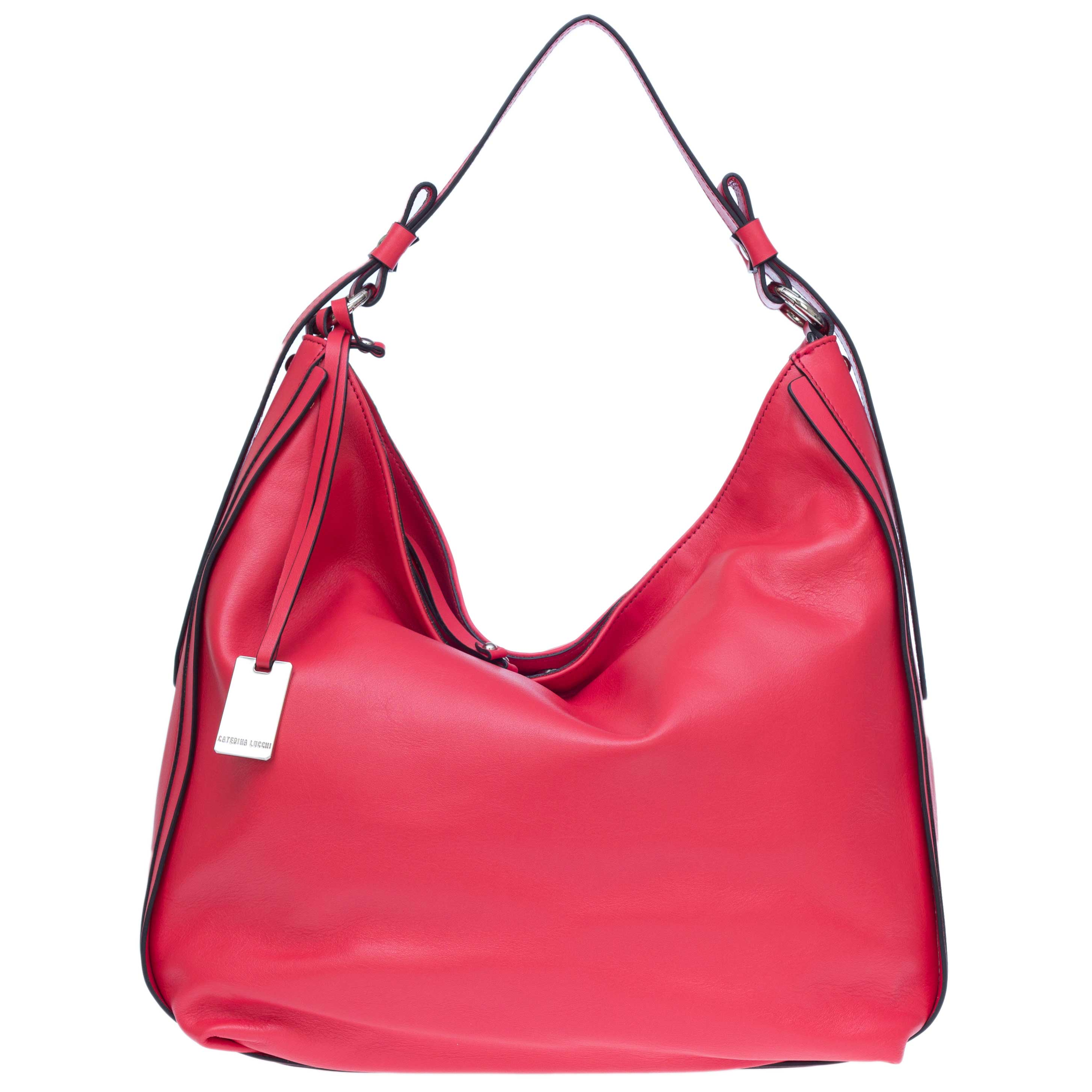 Caterina Lucchi Italian Made Red Leather Hobo Bag