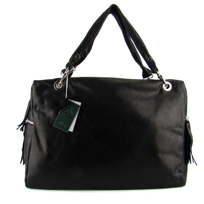 Nardelli Italian Made Designer Black Leather Handbag Laptop Case Bag - / Clearance /