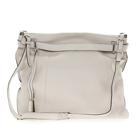 Cromia Italia Made Off-White Stone Leather Large Carryall Satchel Shoulder Bag - / Clearance /