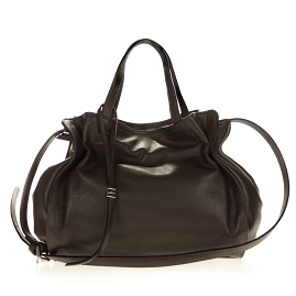 Gianni Chiarini Italian Made Dark Brown Leather Handbag - / Clearance /