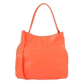 Guidi Italian Made Orange Leather Hobo Bag