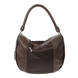 Arcadia Italian Made Brown Leather Hobo Bag Handbag
