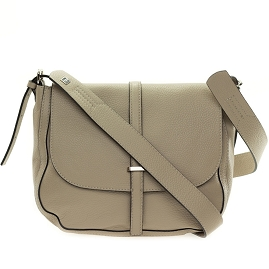 Gianni Chiarini Italian Made Sesame Beige Leather Crossbody Messenger Bag