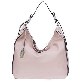 Caterina Lucchi Italian Made Pale Pink Leather Hobo Bag