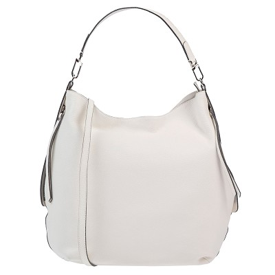 Gianni Chiarini Italian Made Cream Leather Hobo Bag