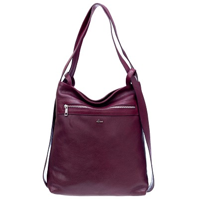 Nardelli Italian Made Cherry Red Organically treated Calf Leather Large Shoulder Bag/Backpack