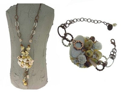 Italian Fashion Jewelry Set: Necklace And Bracelet